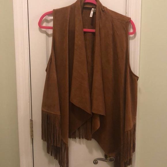 boutique Jackets & Blazers - Suede Western Fringe Vest
